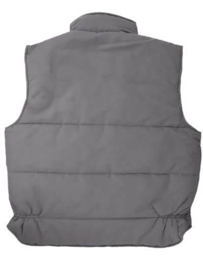 Chaleco trabajo 108 gris espalda