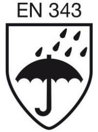 EN 343 - Ropa de protección. Protección contra la lluvia.