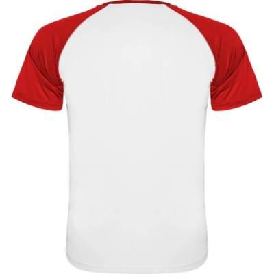 Camiseta indianapolis blanca-roja espalda