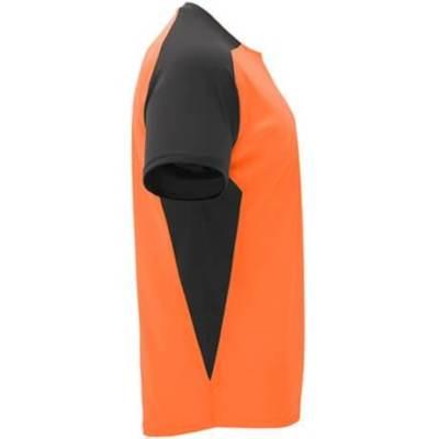 6399- Camiseta técnica Bugatti Roly naranja-negro lado