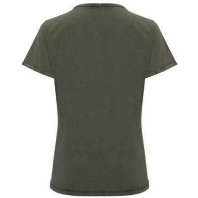 6691 Camiseta Husky woman Roly verde militar espalda