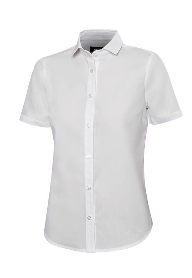 Blusa Camarera Tejido Elástico M Larga Blanca