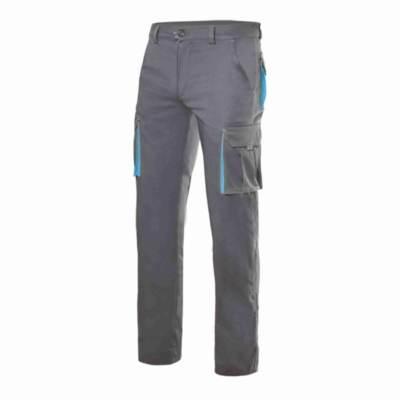 Pantalón Elástico Bicolor Velilla 103024S Gris-Celeste