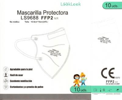 Mascarilla para Niños FFP2 NR (10 Unid.)